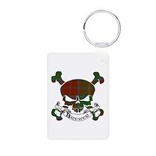 Brewer Tartan Skull Keychains
