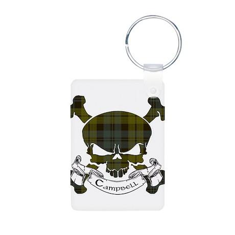 Campbell Tartan Skull Aluminum Photo Keychain