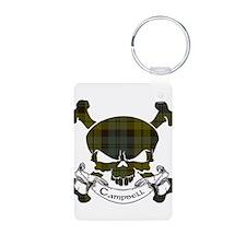 Campbell Tartan Skull Keychains