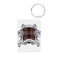 Chapman Tartan Shield Aluminum Photo Keychain