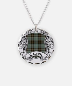 Clark Tartan Shield Necklace