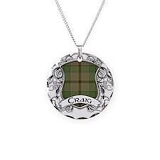 Craig Tartan Shield Necklace Circle Charm