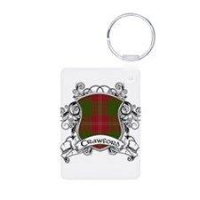 Crawford Tartan Shield Aluminum Photo Keychain
