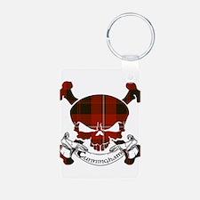 Cunningham Tartan Skull Keychains