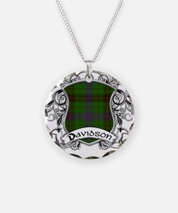 Davidson Tartan Shield Necklace