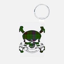 Davidson Tartan Skull Keychains