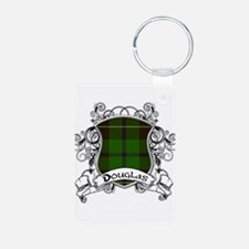 Douglas Tartan Shield Aluminum Photo Keychain