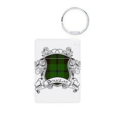 Douglas Tartan Shield Keychains