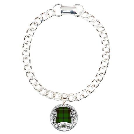 Douglas Tartan Shield Charm Bracelet, One Charm