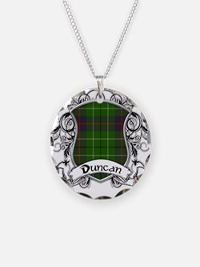 Duncan Tartan Shield Necklace