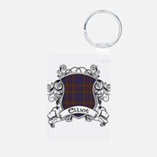 Elliot Tartan Shield Aluminum Photo Keychain