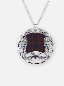 Elliot Tartan Shield Necklace