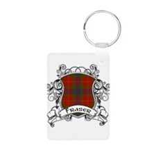 Fraser Tartan Shield Aluminum Photo Keychain