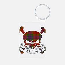 Fraser Tartan Skull Keychains