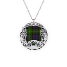 Gordon Tartan Shield Necklace