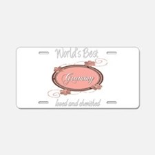 Cherished Grammy Aluminum License Plate