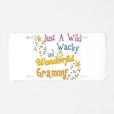 Wild Wacky Grammy Aluminum License Plate
