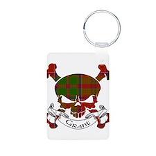 Grant Tartan Skull Keychains