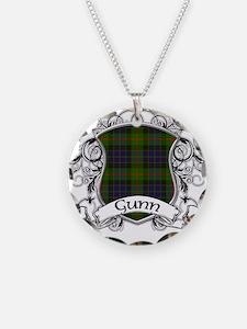 Gunn Tartan Shield Necklace