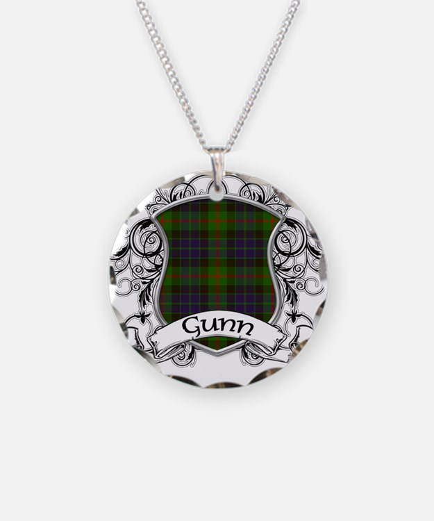 Gunn Tartan Shield Necklace