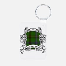 Henderson Tartan Shield Aluminum Photo Keychain