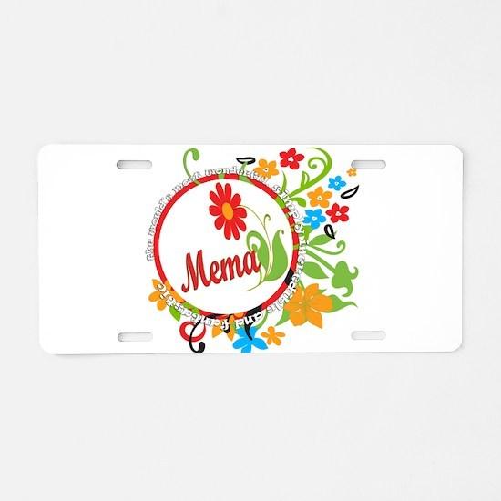 Wonderful Mema Aluminum License Plate