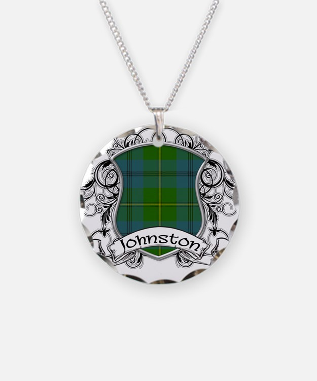 Johnston Tartan Shield Necklace Circle Charm