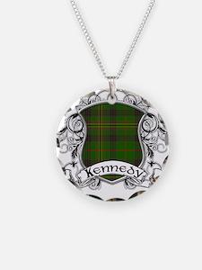 Kennedy Tartan Shield Necklace