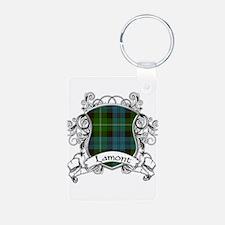 Lamont Tartan Shield Keychains