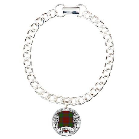 Lindsay Tartan Shield Charm Bracelet, One Charm