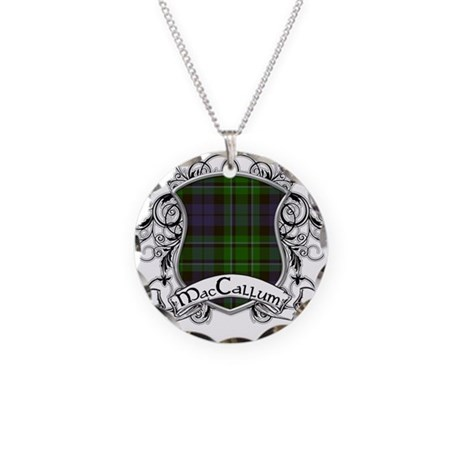 MacCallum Tartan Shield Necklace Circle Charm