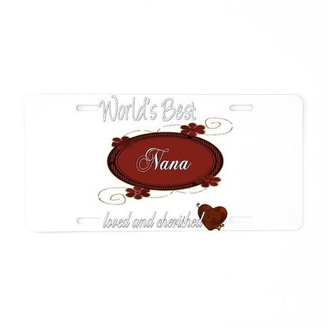 Cherished Nana Aluminum License Plate