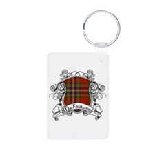 MacFarlane Tartan Shield Aluminum Photo Keychain