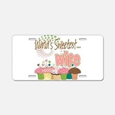 World's Sweetest Wife Aluminum License Plate