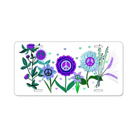 Growing Peace Aluminum License Plate