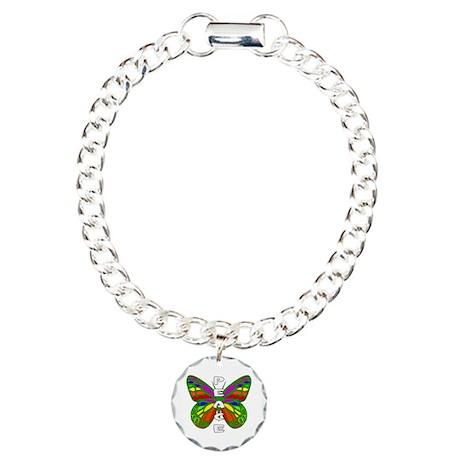 Peace Butterfly Charm Bracelet, One Charm