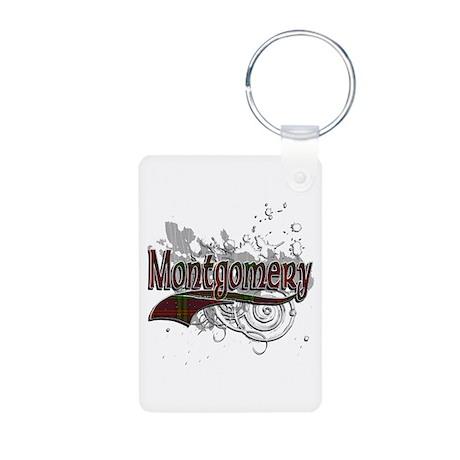 Montgomery Tartan Grunge Aluminum Photo Keychain