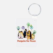 Peace Penguins Keychains