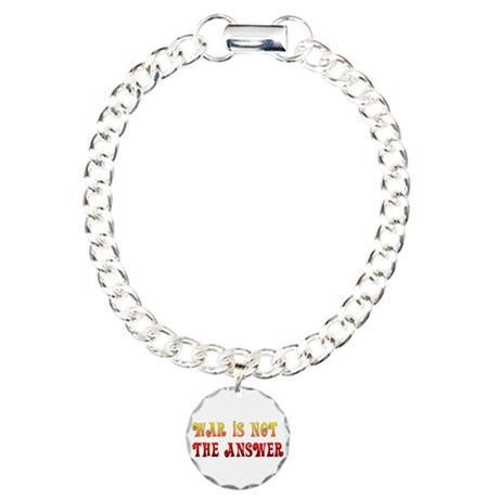 War Is Not The Answer Charm Bracelet, One Charm