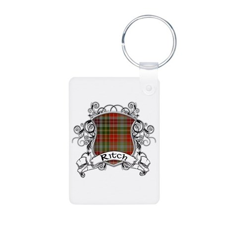 Ritch Tartan Shield Aluminum Photo Keychain