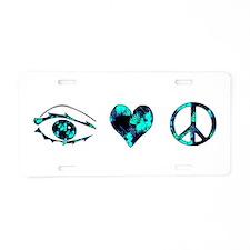 I Heart Peace Aluminum License Plate