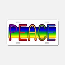 Peace Rainbow Aluminum License Plate