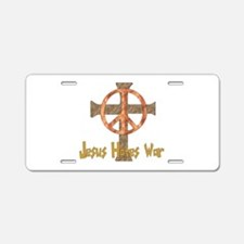 Jesus Hates War Aluminum License Plate