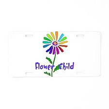 Flower Child Aluminum License Plate