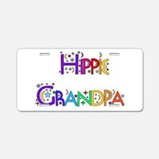 Hippie Grandpa Aluminum License Plate
