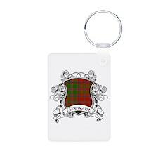 Stewart Tartan Shield Keychains