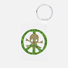 Nature Peace Skull Keychains