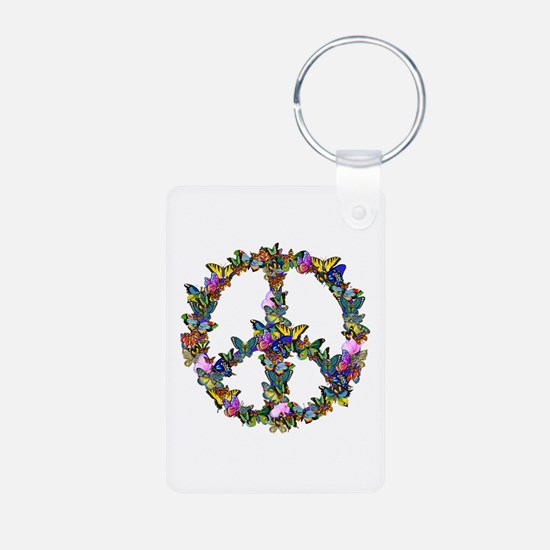 Butterflies Peace Sign Keychains