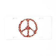 Ladybugs Peace Sign Aluminum License Plate