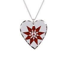Red Peace Star Necklace